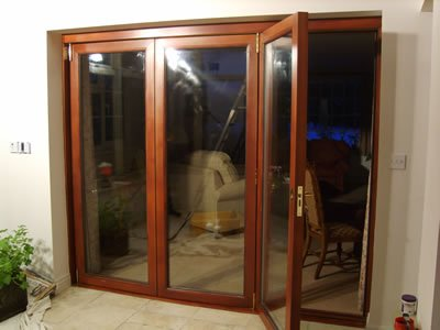 Mahogany Bi-Folding Doors