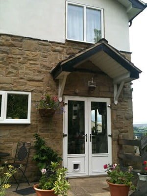 Timber french doors dgl ilkley for Upvc french doors with cat flap