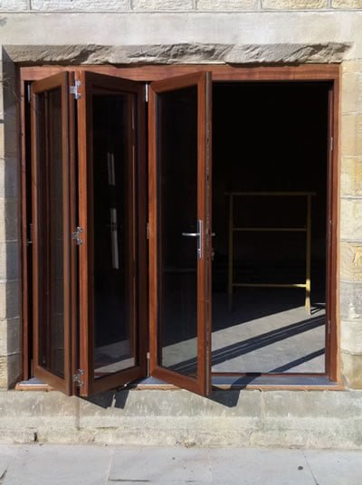 Timber Bi Folding Doors Three Door