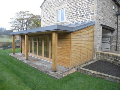 The garden room leathley dgl ilkley for Timber garden rooms